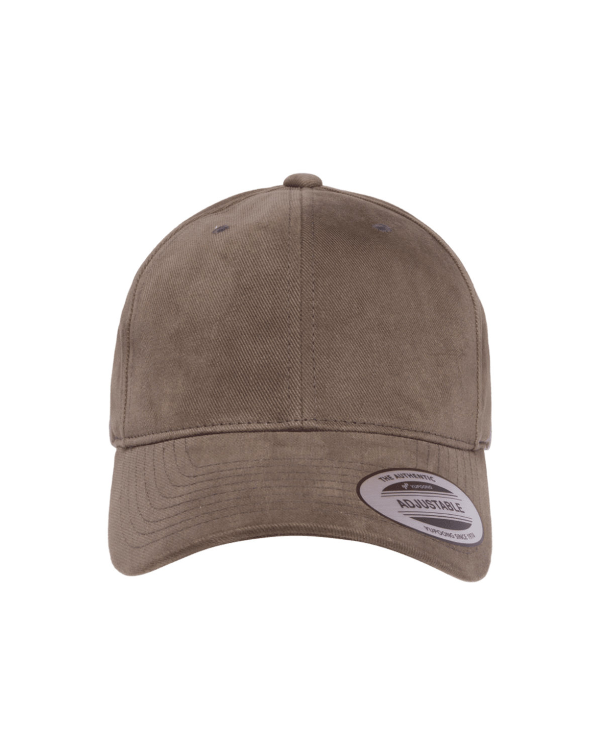 Yupoong Adult Brushed Cotton Twill Mid-Profile Cap DARK GREY