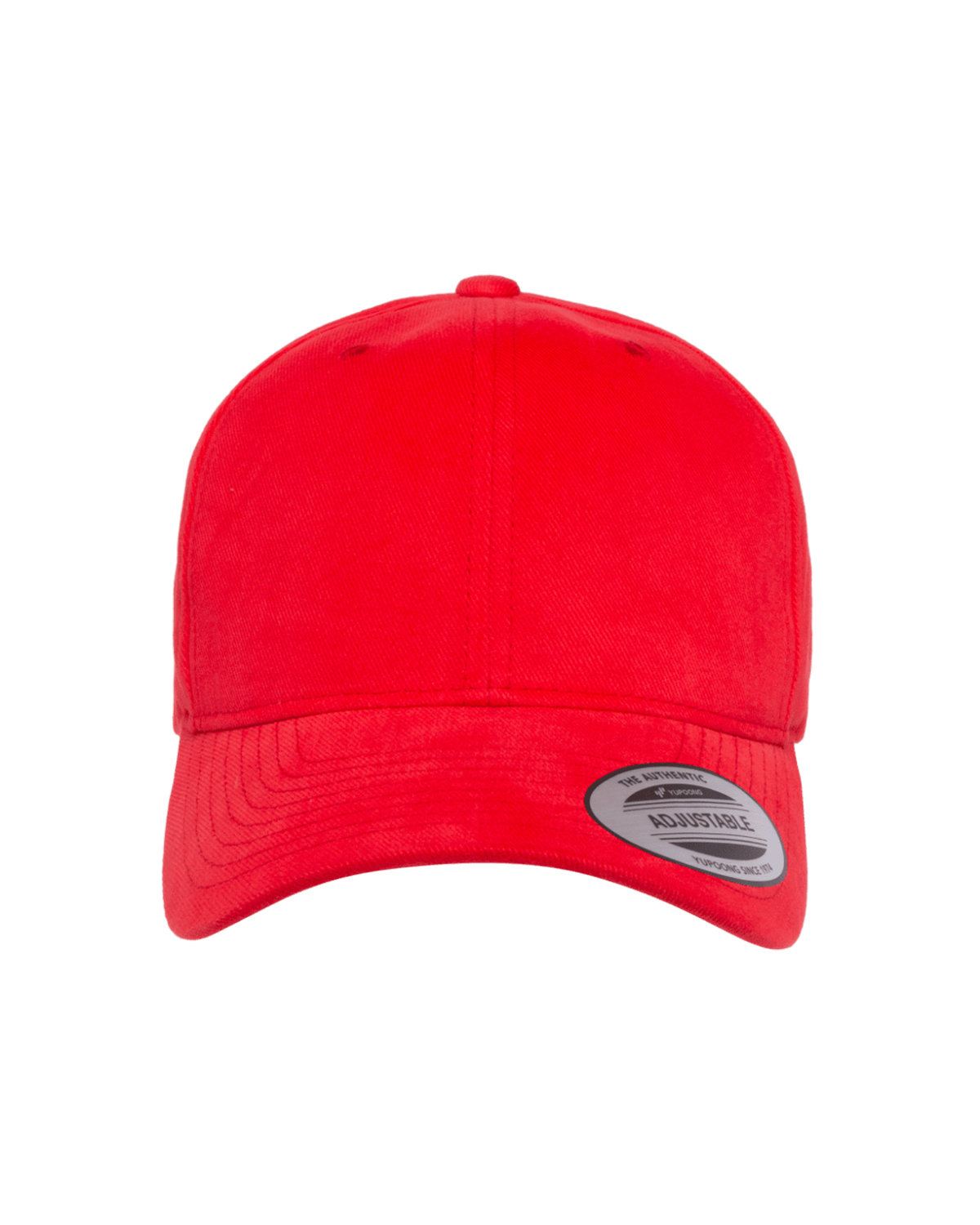 Yupoong Adult Brushed Cotton Twill Mid-Profile Cap RED