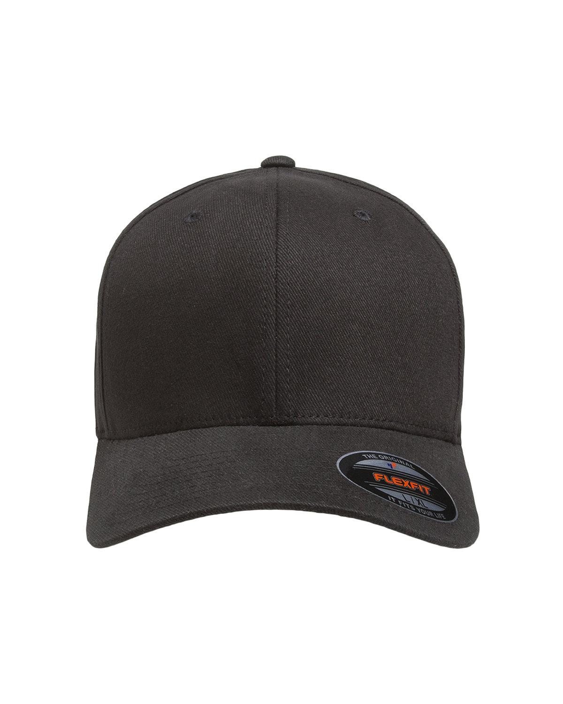 Flexfit Adult Brushed Twill Cap BLACK
