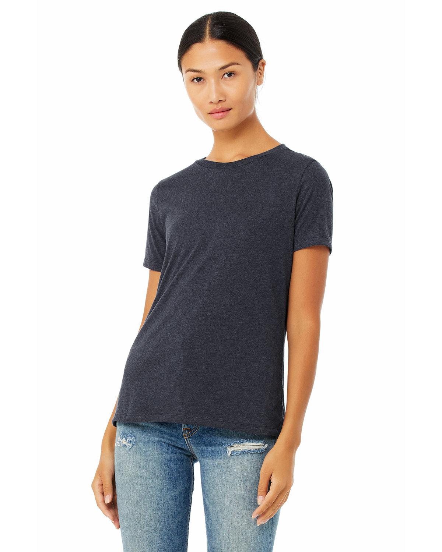 Bella + Canvas Ladies' Relaxed Heather CVC Short-Sleeve T-Shirt HEATHER NAVY