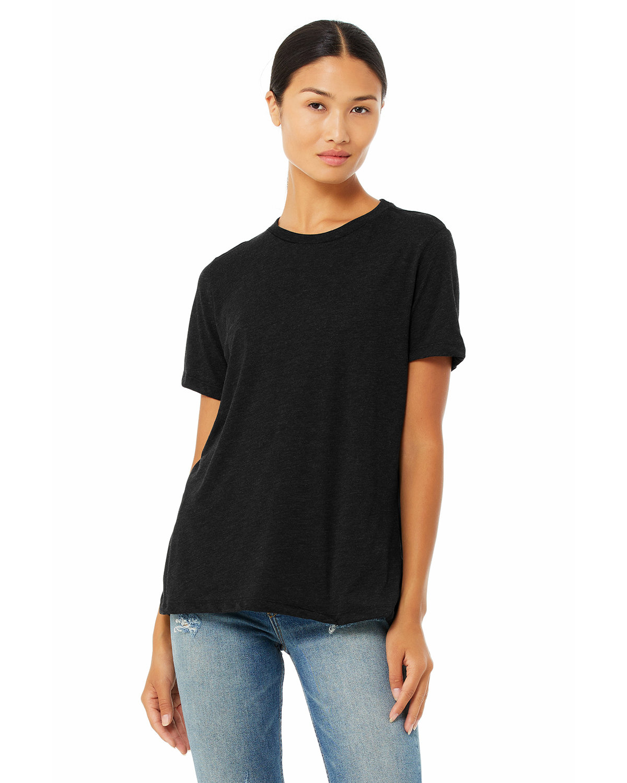 Bella + Canvas Ladies' Relaxed Heather CVC Short-Sleeve T-Shirt BLACK HEATHER