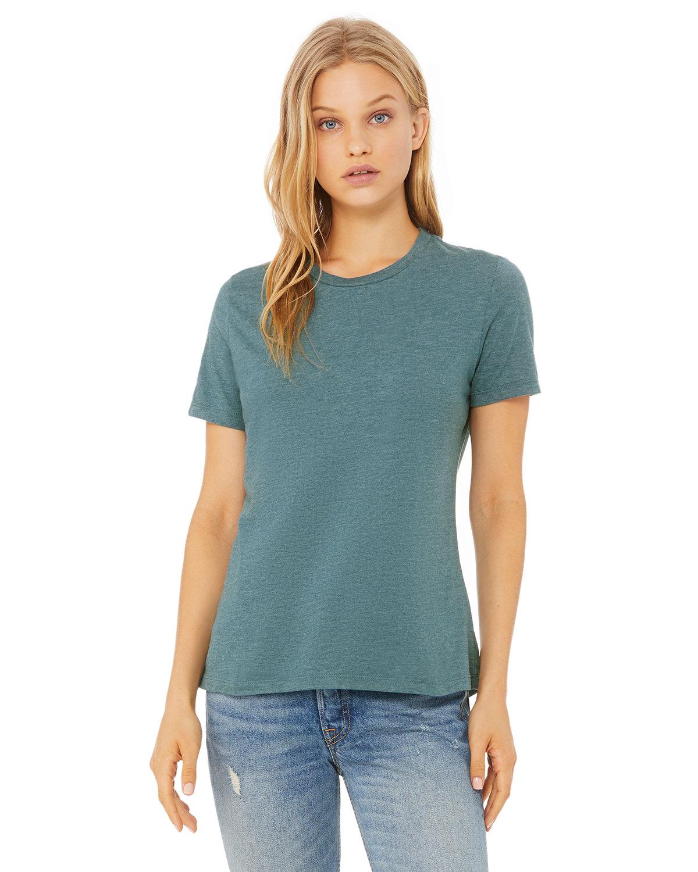 Bella + Canvas Ladies' Relaxed Heather CVC Short-Sleeve T-Shirt HTHR DEEP TEAL