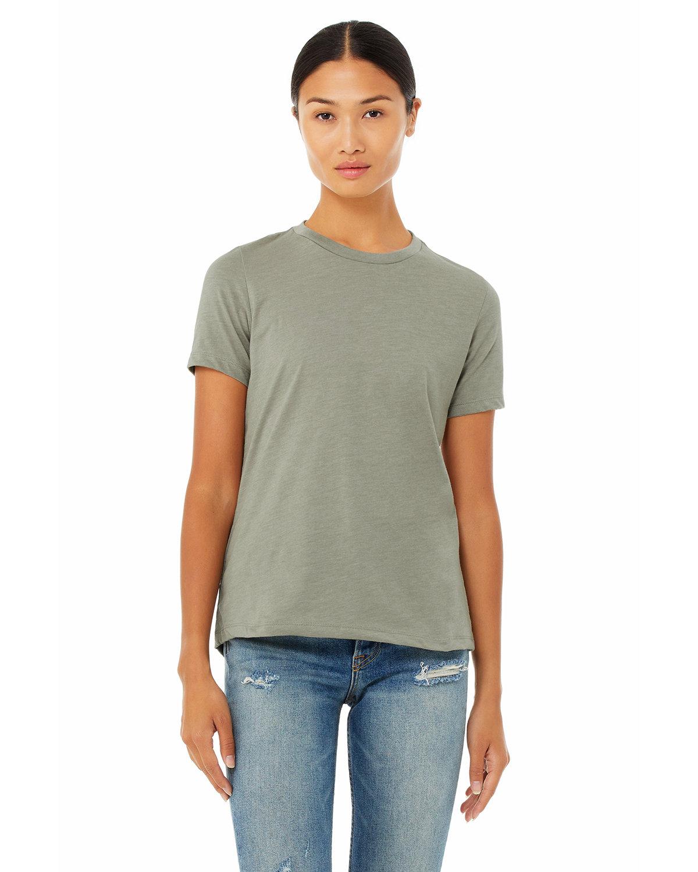 Bella + Canvas Ladies' Relaxed Heather CVC Short-Sleeve T-Shirt HEATHER STONE