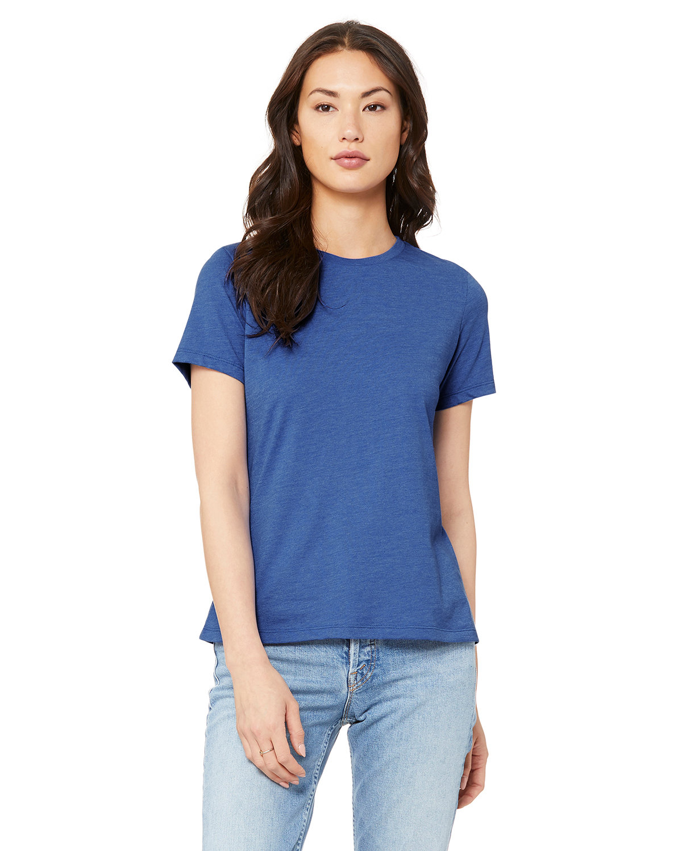 Bella + Canvas Ladies' Relaxed Heather CVC Short-Sleeve T-Shirt HEATHER TRUE ROY