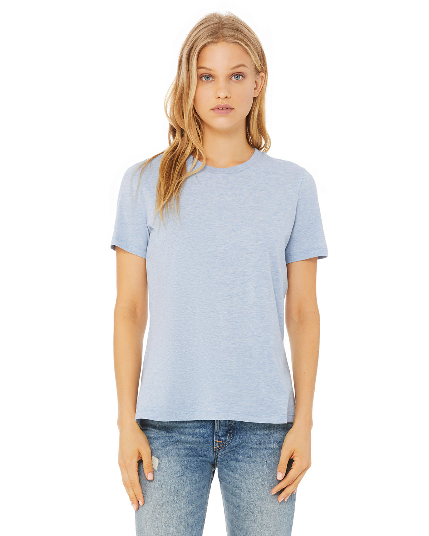 Bella + Canvas Ladies' Relaxed Heather CVC Short-Sleeve T-Shirt HTHR PRISM BLUE