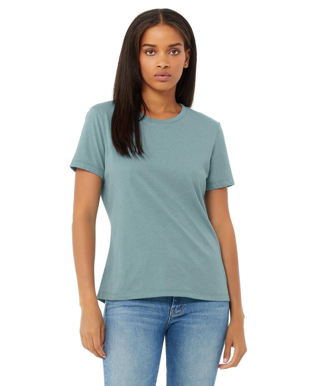 Bella + Canvas Ladies' Relaxed Heather CVC Short-Sleeve T-Shirt HTHR BLUE LAGOON