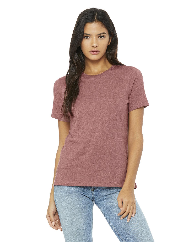 Bella + Canvas Ladies' Relaxed Heather CVC Short-Sleeve T-Shirt HEATHER MAUVE