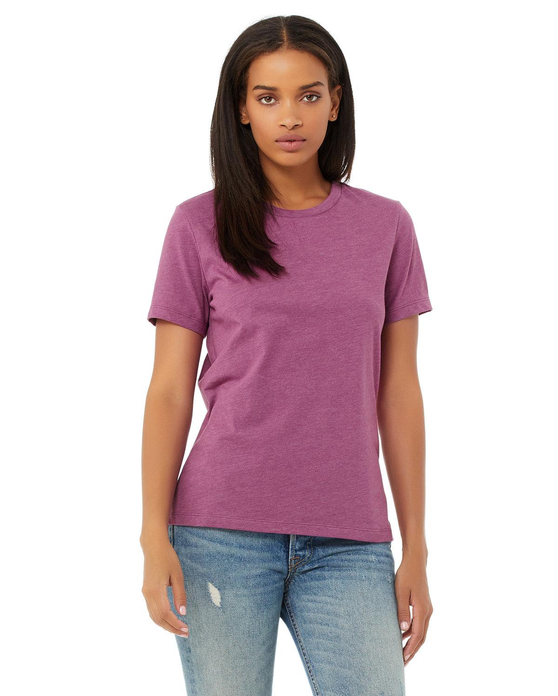 Bella + Canvas Ladies' Relaxed Heather CVC Short-Sleeve T-Shirt HEATHER MAGENTA