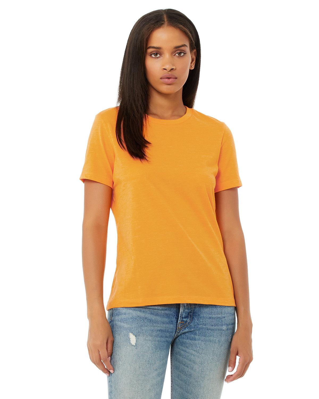 Bella + Canvas Ladies' Relaxed Heather CVC Short-Sleeve T-Shirt HTHR MARMALADE