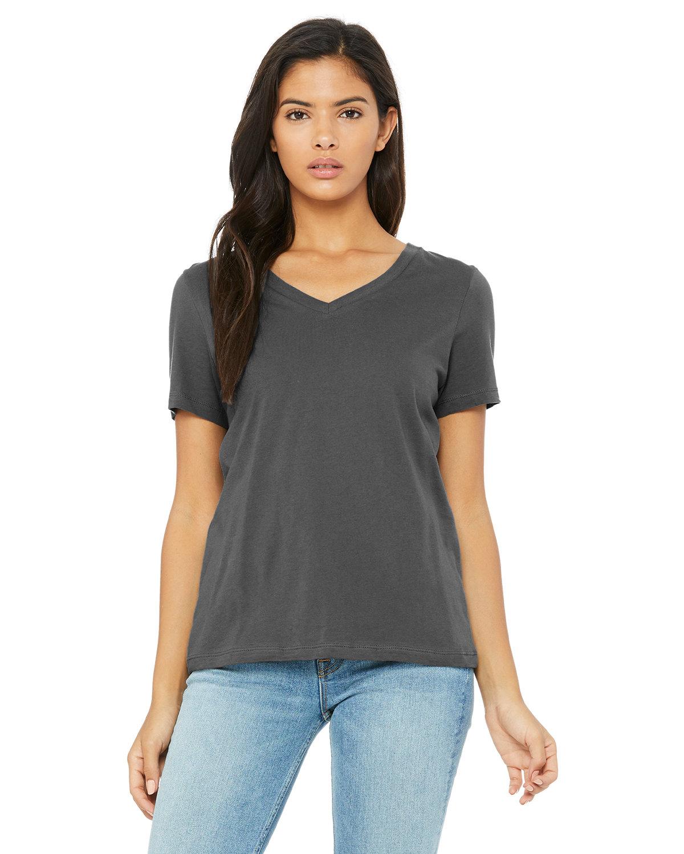 Bella + Canvas Ladies' Relaxed Jersey V-Neck T-Shirt ASPHALT