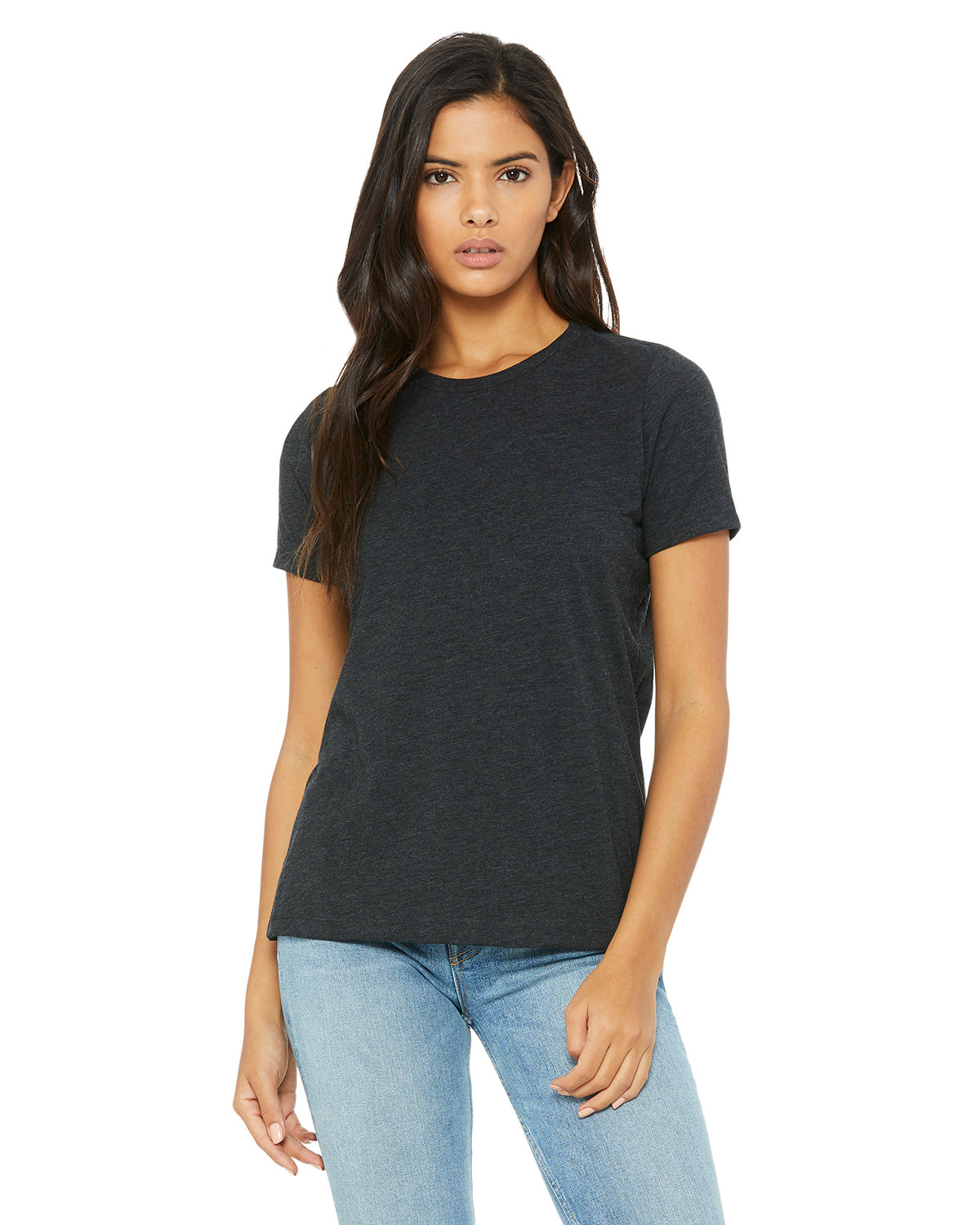 Bella + Canvas Ladies' Relaxed Triblend T-Shirt CHAR-BLK TRIBLND
