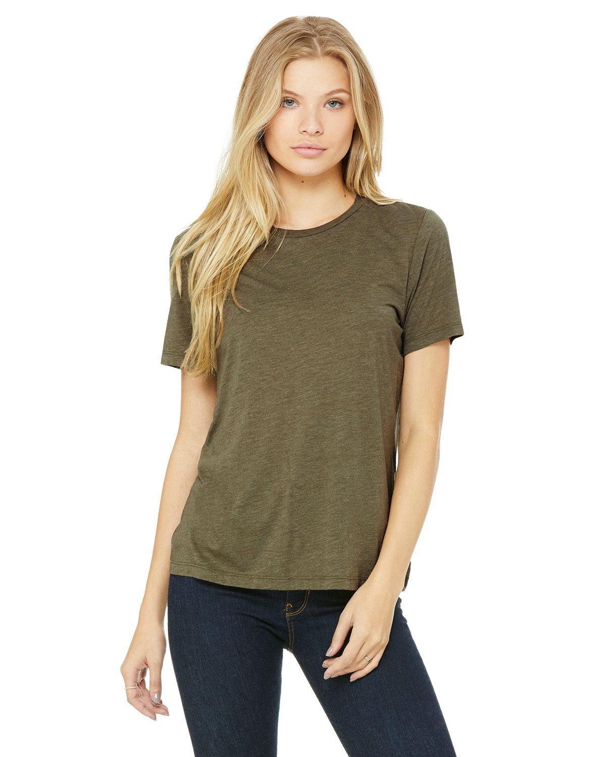 Bella + Canvas Ladies' Relaxed Triblend T-Shirt OLIVE TRIBLEND