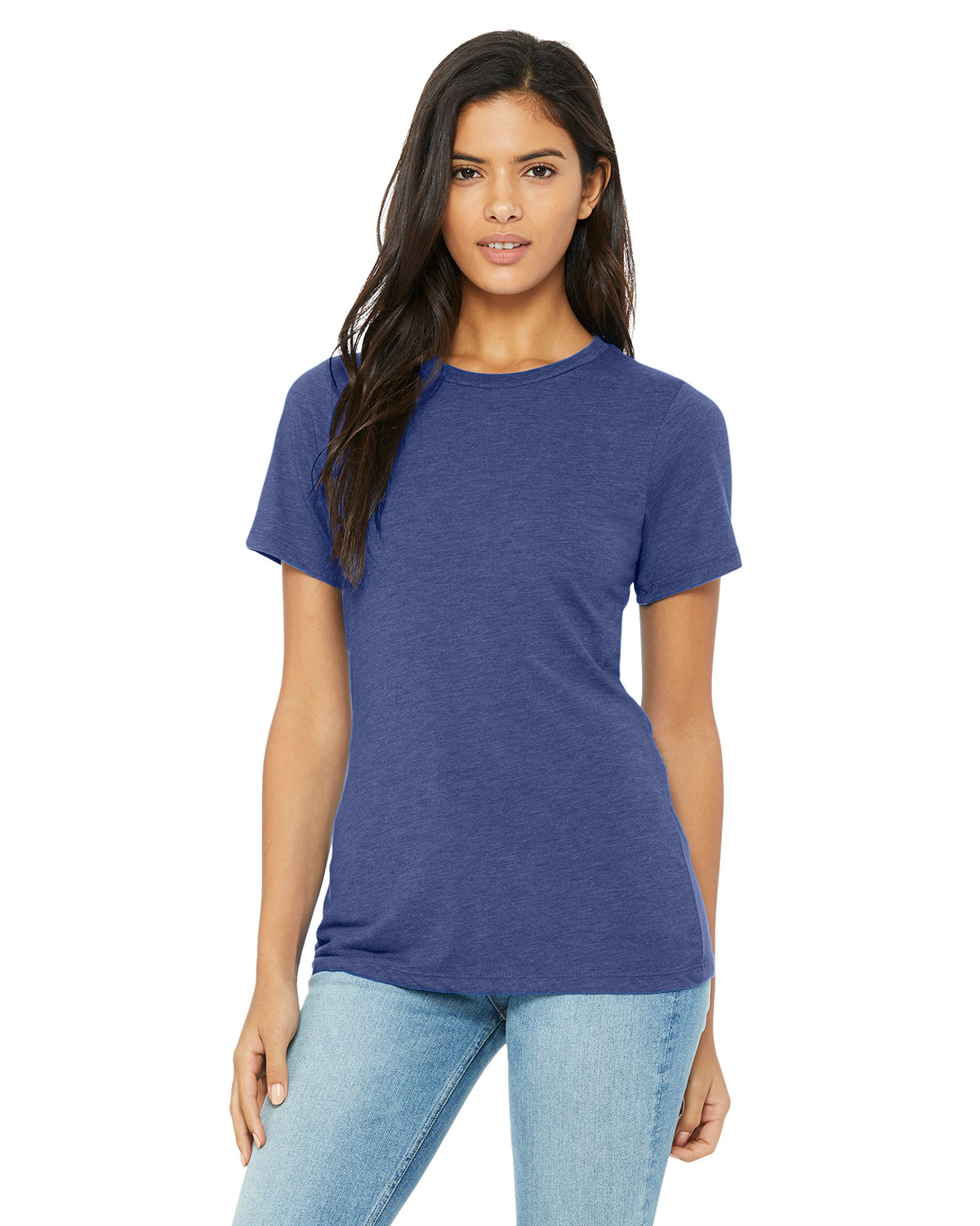 Bella + Canvas Ladies' Relaxed Triblend T-Shirt TRUE ROYAL TRIBD