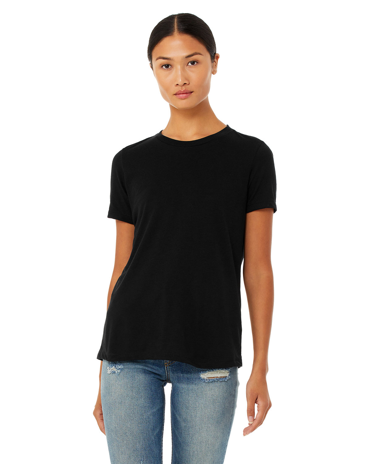 Bella + Canvas Ladies' Relaxed Triblend T-Shirt SOLID BLK TRBLND