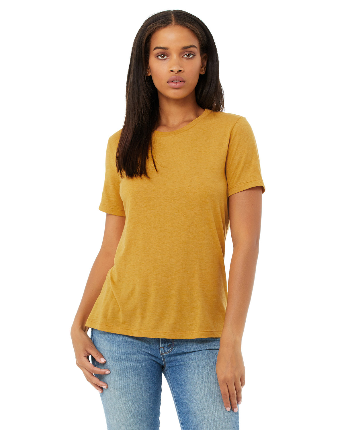 Bella + Canvas Ladies' Relaxed Triblend T-Shirt MUSTARD TRIBLEND