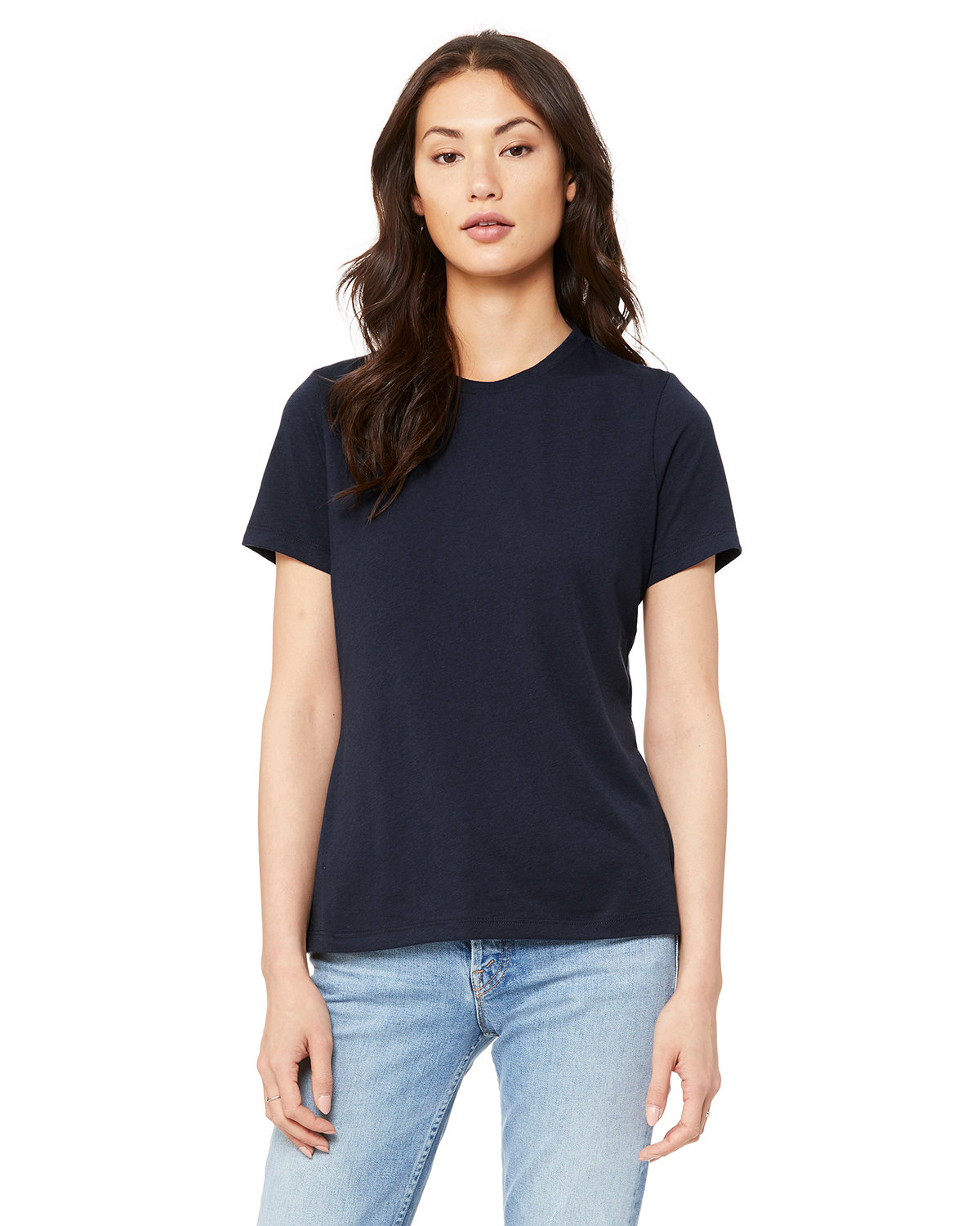 Bella + Canvas Ladies' Relaxed Triblend T-Shirt SOLID NVY TRBLND
