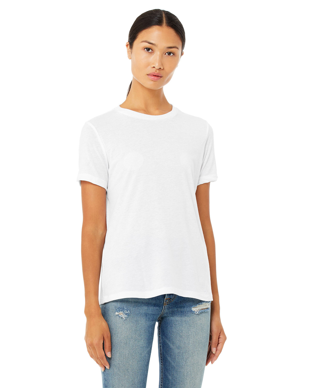 Bella + Canvas Ladies' Relaxed Triblend T-Shirt SOLID WHT TRBLND