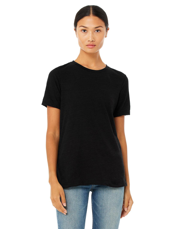 Bella + Canvas Ladies' Relaxed Vintage Slub T-Shirt SOLID BLACK SLUB