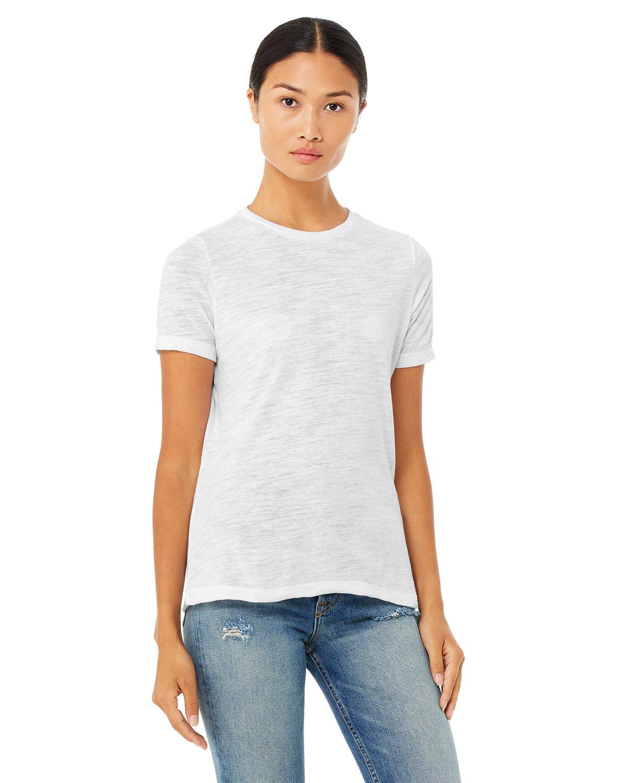 Bella + Canvas Ladies' Relaxed Vintage Slub T-Shirt WHITE SLUB