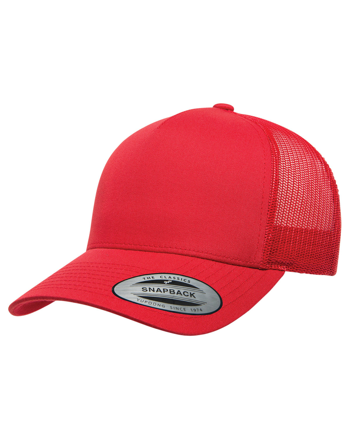 Yupoong Adult 5-Panel Retro Trucker Cap RED
