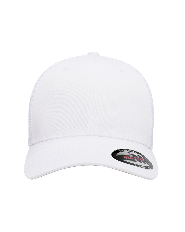 Flexfit Adult 6-Panel Trucker Cap WHITE