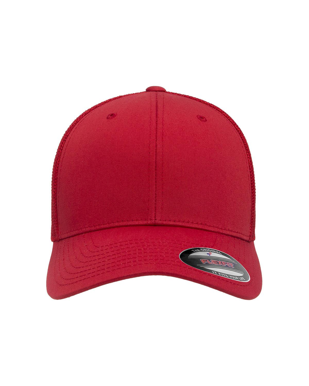 Flexfit Adult 6-Panel Trucker Cap RED