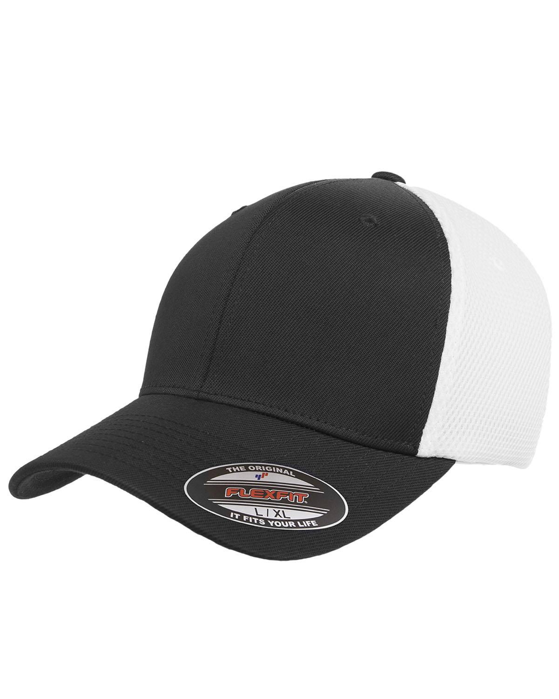 Flexfit Adult Ultrafibre and Airmesh Cap BLACK/ WHITE