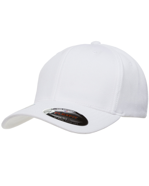Flexfit Adult Cool & Dry Sport Cap WHITE