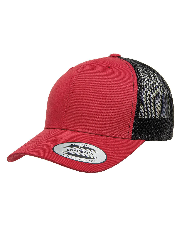 Yupoong Adult Retro Trucker Cap RED/ BLACK