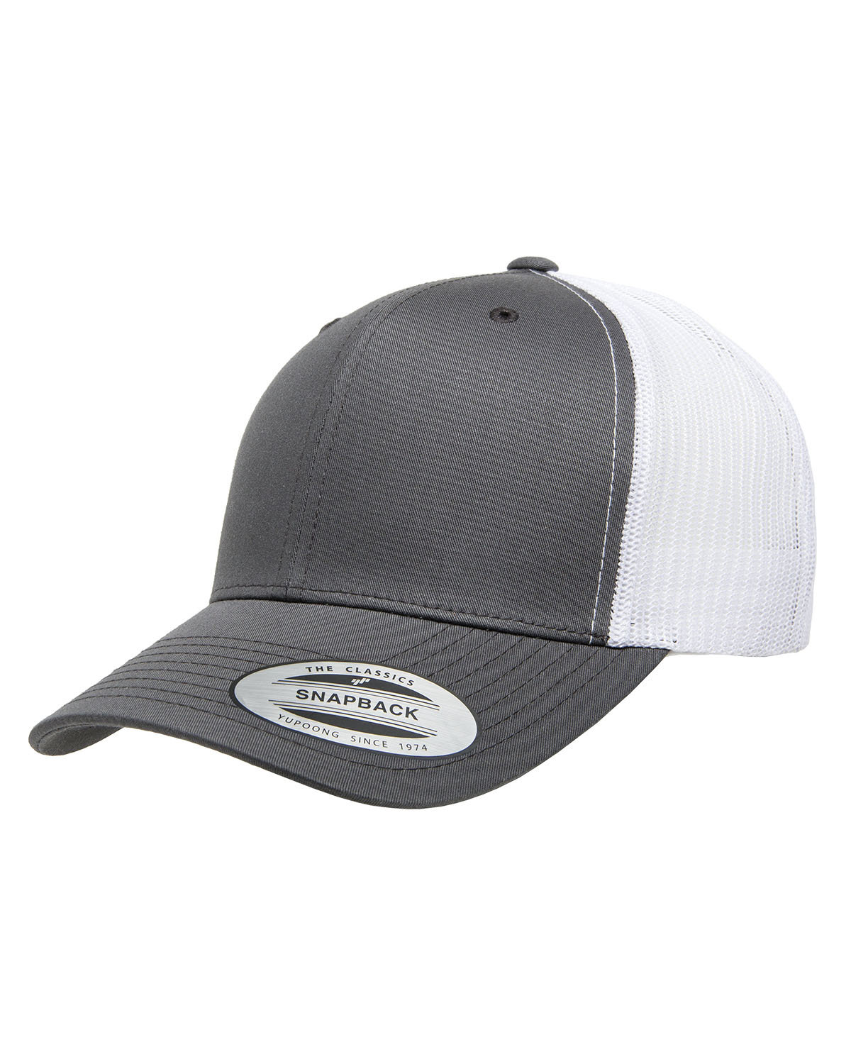 Yupoong Adult Retro Trucker Cap CHARCOAL/ WHITE