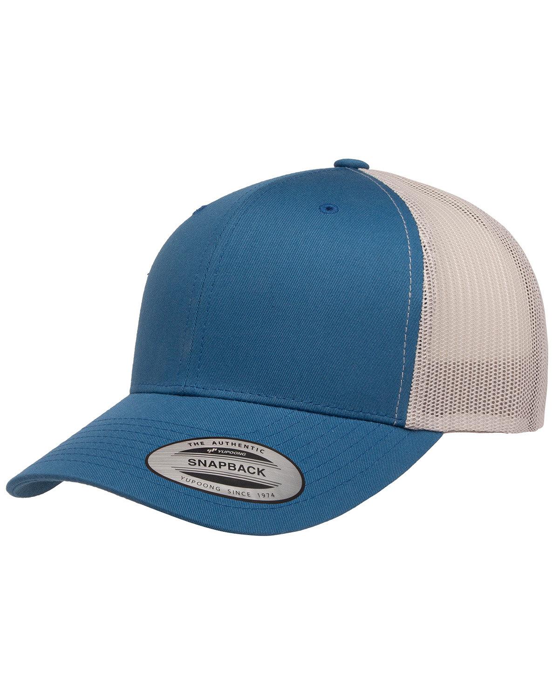Yupoong Adult Retro Trucker Cap STEEL BLUE/ SLVR