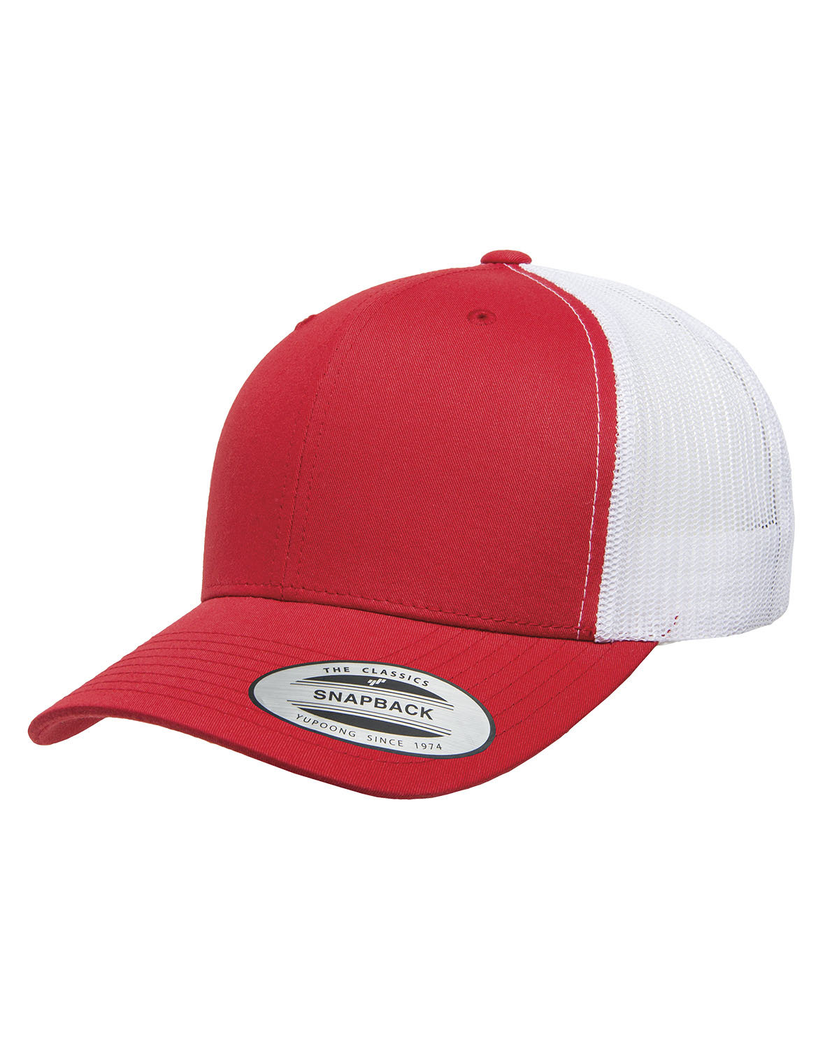 Yupoong Adult Retro Trucker Cap RED/ WHITE