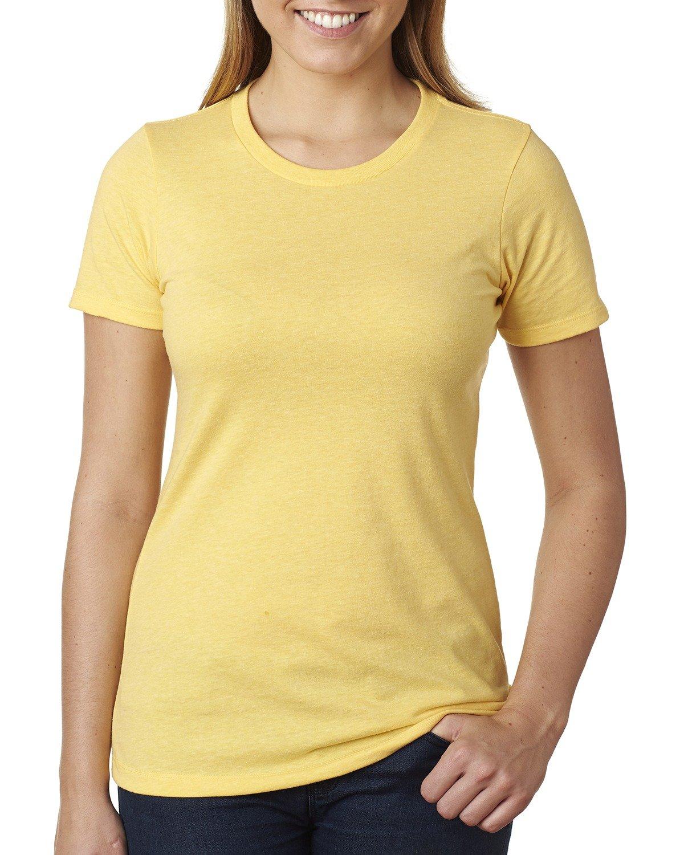 Next Level Ladies' CVC T-Shirt BANANA CREAM