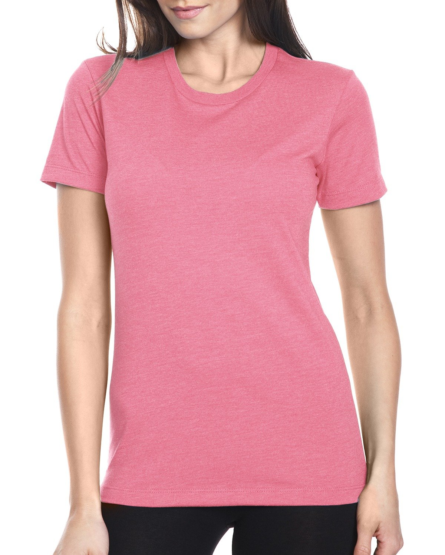 Next Level Ladies' CVC T-Shirt HOT PINK