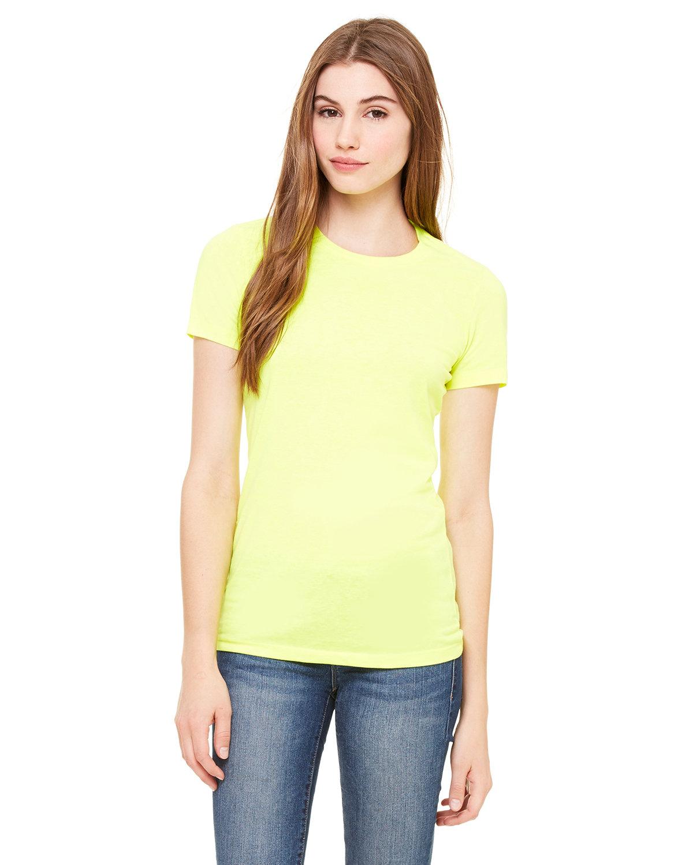 Bella + Canvas Ladies' Poly-Cotton Short-Sleeve T-Shirt NEON YELLOW