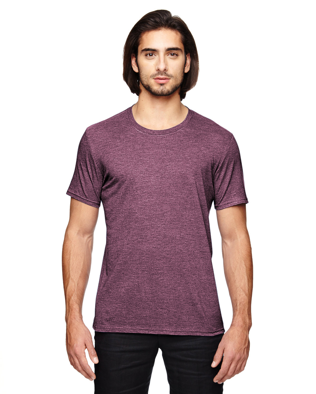 Anvil Adult Triblend T-Shirt HEATHER MAROON