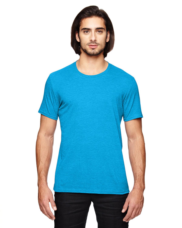 Anvil Adult Triblend T-Shirt HTH CARIB BLUE