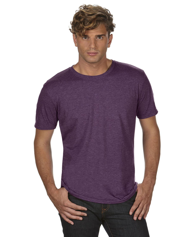 Anvil Adult Triblend T-Shirt HTH AUBERGINE