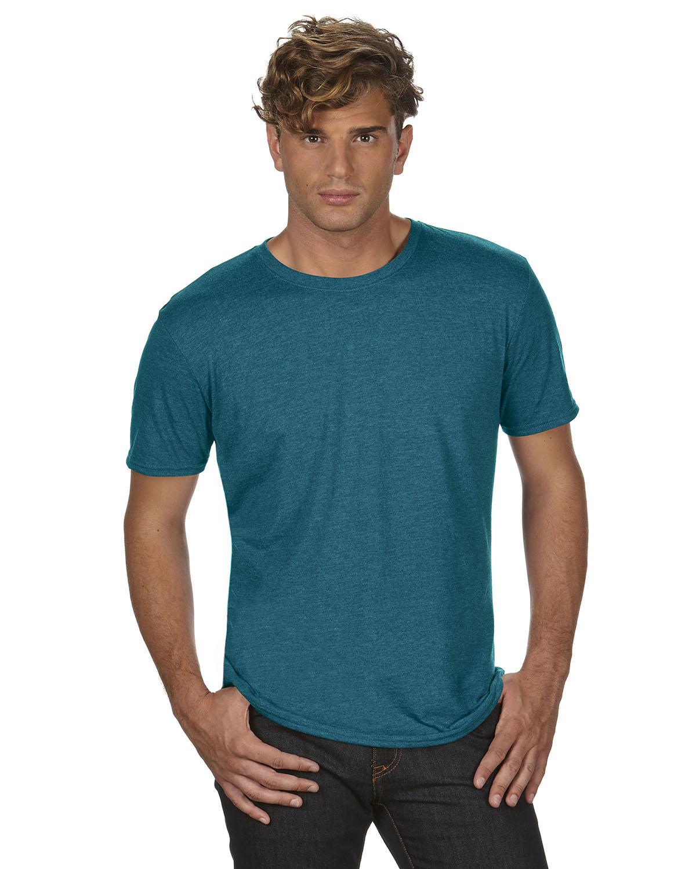 Anvil Adult Triblend T-Shirt HTH GALAP BLUE