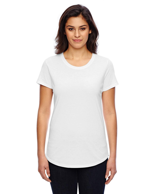 Anvil Ladies' Triblend T-Shirt WHITE
