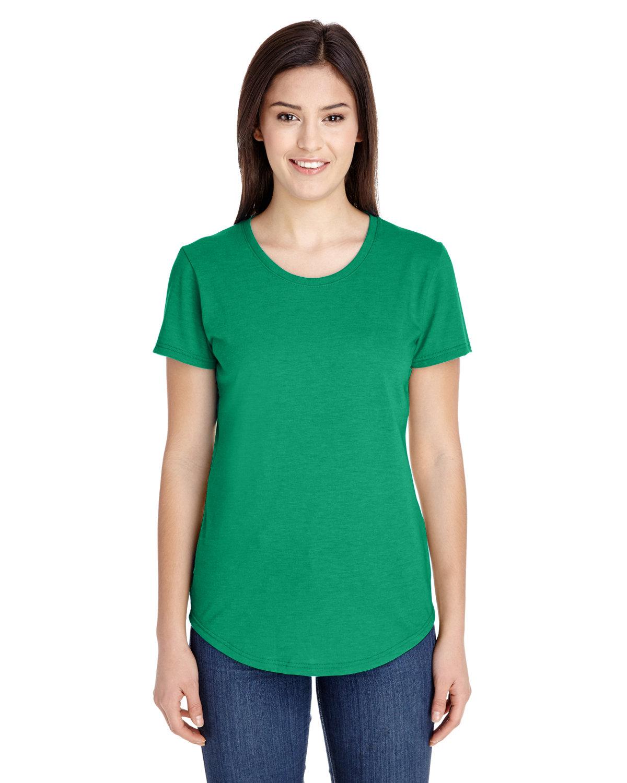 Anvil Ladies' Triblend T-Shirt HEATHER GREEN