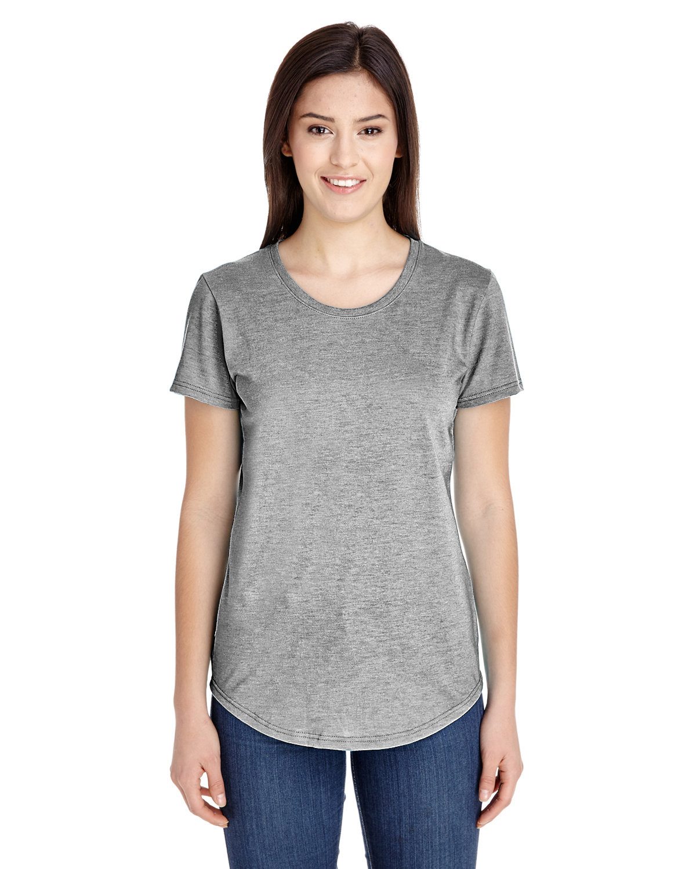 Anvil Ladies' Triblend T-Shirt HEATHER GREY