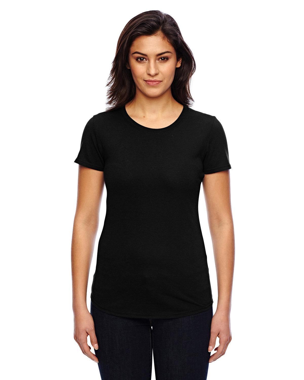 Anvil Ladies' Triblend T-Shirt BLACK