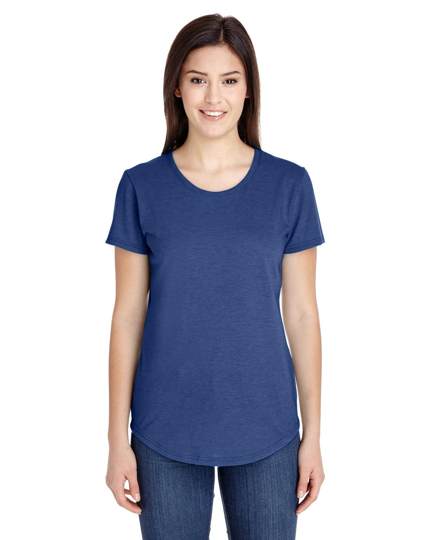 Anvil Ladies' Triblend T-Shirt HEATHER BLUE