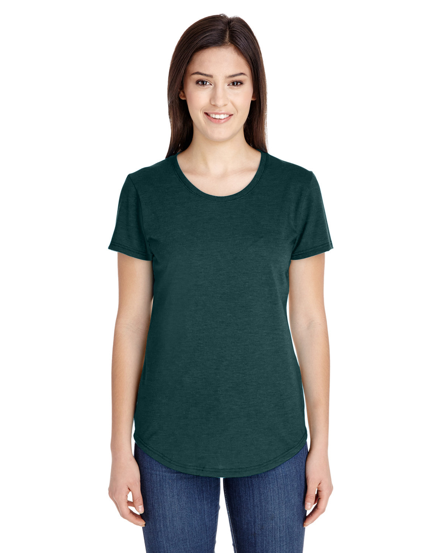 Anvil Ladies' Triblend T-Shirt HTH DARK GREEN