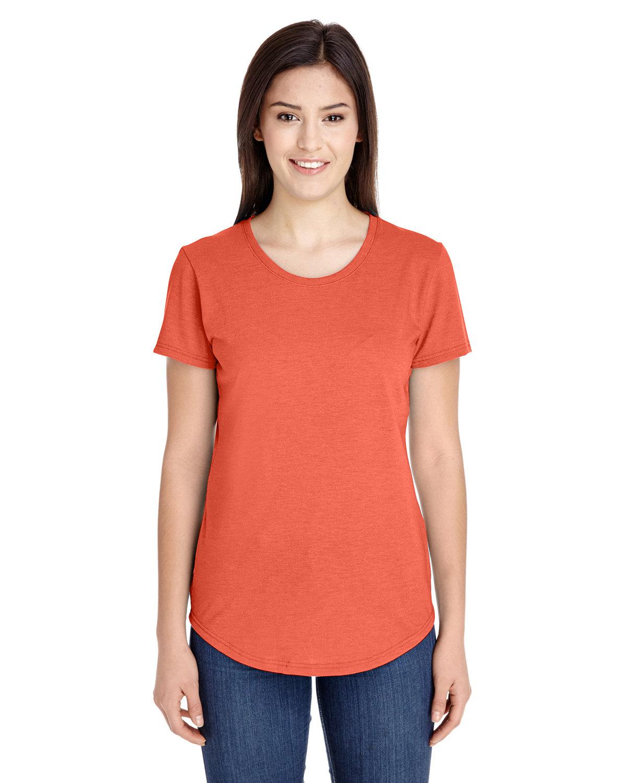 Anvil Ladies' Triblend T-Shirt HEATHER ORANGE