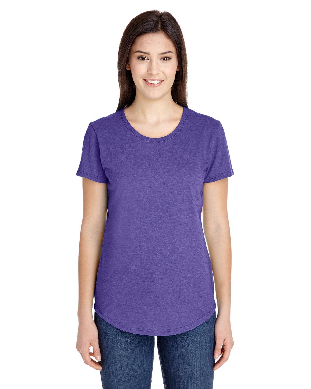 Anvil Ladies' Triblend T-Shirt HEATHER PURPLE