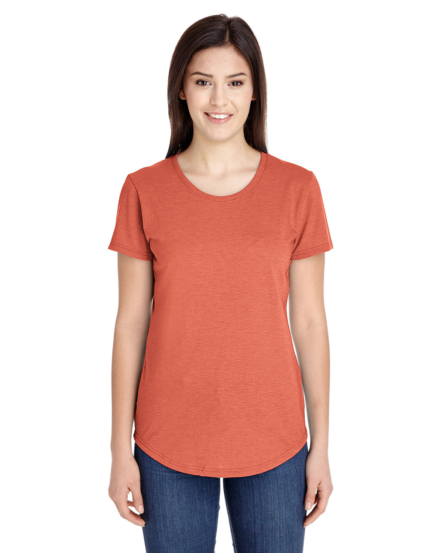Anvil Ladies' Triblend T-Shirt HEATHER BRONZE