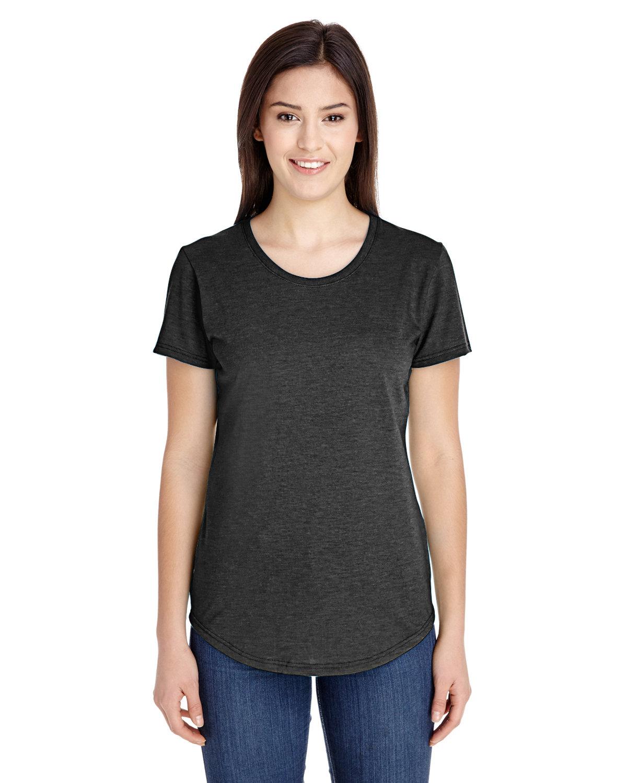 Anvil Ladies' Triblend T-Shirt HEATHER DK GREY
