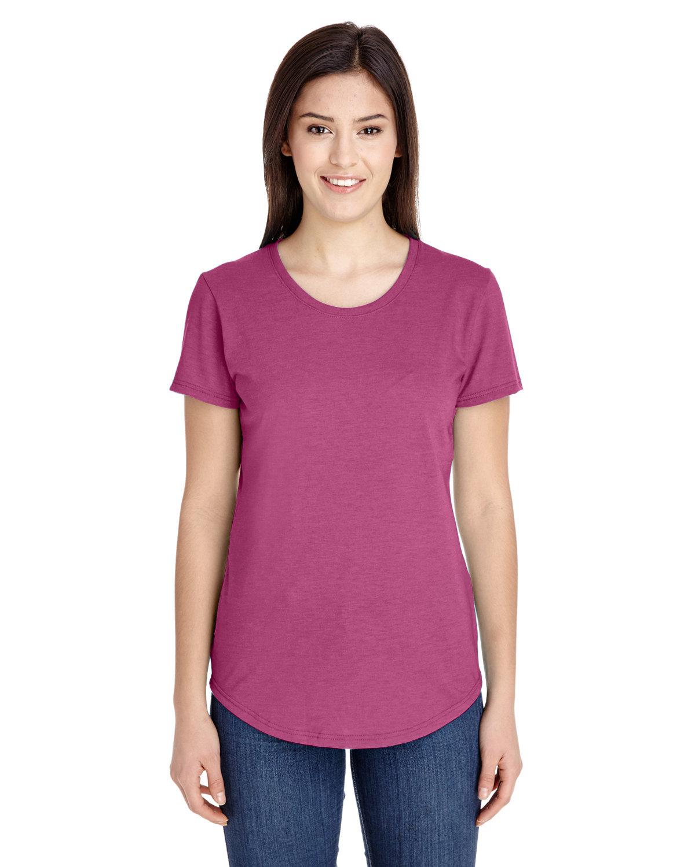 Anvil Ladies' Triblend T-Shirt HEATHER RASPBRRY